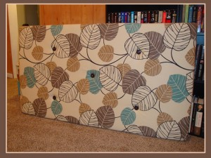 Buttons on your homemade headboard